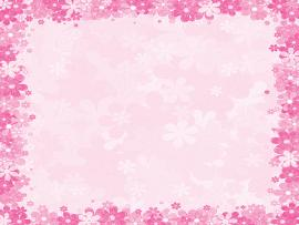 Borders Pink Floral Frames  Graphic Backgrounds