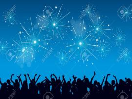 Bright Blue New Years Backgrounds