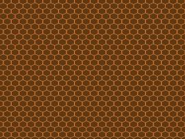 Brown Hexagon Honeycomb Presentation Backgrounds