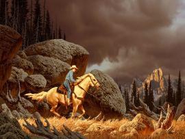 Cartoon Western Photo Backgrounds
