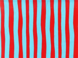 Celebrate Seuss! Squiggle Stripe RedBlue  Disunt Designer Fabric   image Backgrounds