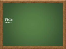 Chalkboard Template Slides Backgrounds