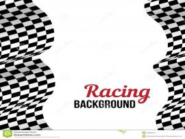 Checkered Flag With Racing Car Border European Avalanche   Presentation Backgrounds