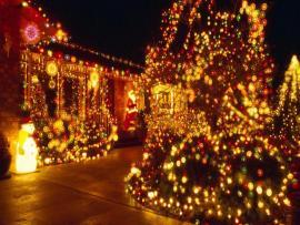 Christmas Lights Slides Backgrounds
