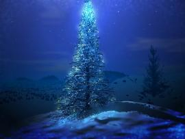Christmas Tree and Santa Clauss For Desktop  Design Backgrounds