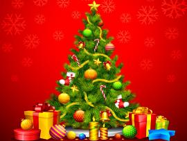 Christmas Tree Fireplace Backgrounds