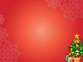 Christmas Xmas Gifts On Red PowerPoint  PPT   Clipart Backgrounds