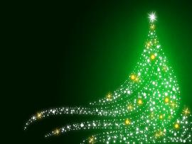 Christmass Shimmering Christmas Tree On Christmas Green   Graphic Backgrounds
