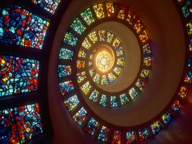 Circle Stained Glass Design Backgrounds