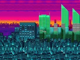 City Pixel Desktops Graphic Backgrounds