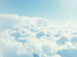 Clouds Blue Sky Template Backgrounds