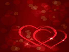 Color Real Love  Abstract Love Red  PPT Template Backgrounds