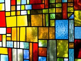 Colorful Abstract Stained Glass Slides Backgrounds