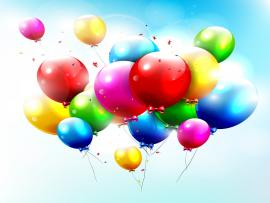 Colorful Balloons Vector Picture Backgrounds
