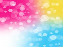 Colorful Bubbles Photo Template Backgrounds