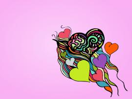Colorful Heartbeat Backgrounds