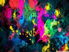 Colorful Paint Splatter Images Presentation Backgrounds