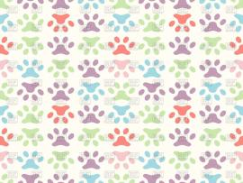 Colorful Paw Print Seamless Paw Print Backgrounds