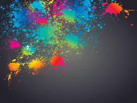 Colorful Splashed Paint Splatter Clip Art Backgrounds