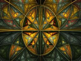 Complex Stained Glass Art Backgrounds