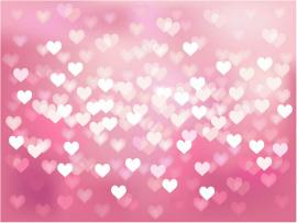Cool Pink Heart Presentation Backgrounds