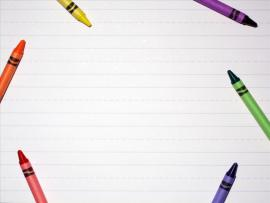 Crayon Frame PowerPoint  PPT Design Backgrounds