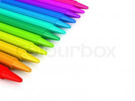 Crayons Colour Crayons Over White Backgrounds