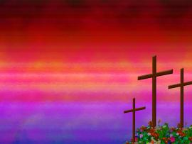 Cross Christian Rose Garden Backgrounds