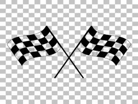 Crossed Checkered Flags Logo Waving In The Wind Nceptual Of Motor   Art Backgrounds