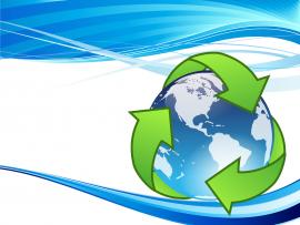 Crystal Earth Recycle  Technology  PPT Frame Backgrounds