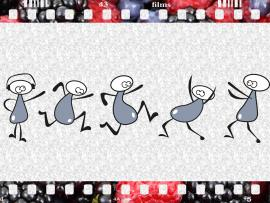 Dancing Figure Design Backgrounds