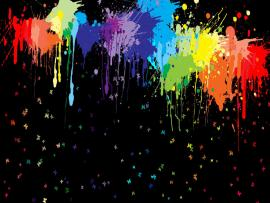 Dark Paint Splatter Clip Art Backgrounds
