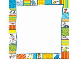 Dr Seuss Border  Clipartion  Slides Backgrounds