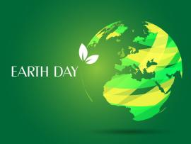 Earth Day  3D Green White  PPT Clip Art Backgrounds