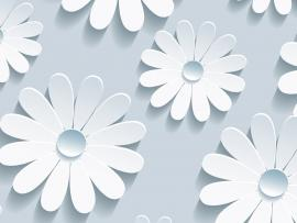 Elegant Flower Pattern On Blue Backgrounds