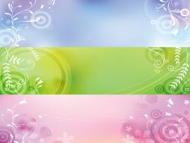Elegant Plant Banners Backgrounds