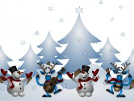 Enjoy with Snowman Backgrounds