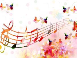 Fantastic Music Notes Slides Backgrounds