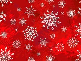 Fantastic Red Christmas Slides Backgrounds