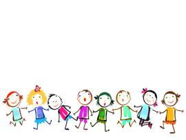 File Children Holding Hands Vector Material 01 Name Children   Art Backgrounds