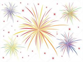 Fireworks White White Vector Template Backgrounds