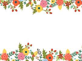 Floral Border Art Backgrounds