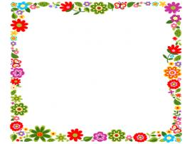 Floral Frame Presentation Backgrounds