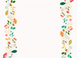 Floral Frame Template Backgrounds