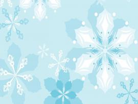 Floral Snowflake Frame Backgrounds