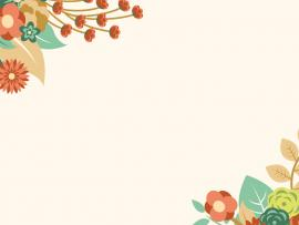 Flower Border Frame Backgrounds