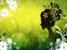 Flower Lady Vector Art HD For Desktop Quality Backgrounds