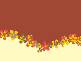 Flowers Design  Brown Flowers Grey White Yellow  PPT   Backgrounds