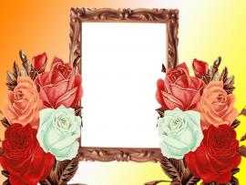 Flowers Wedding Photo Frame Clipart Backgrounds