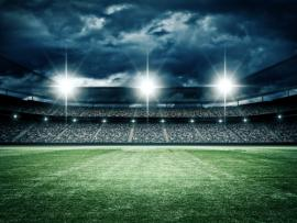 Football Field Lights 5ft X 7ft Thin Vinyl Photography   Picture Backgrounds